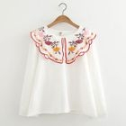 Embroidered Collar Blouse 1596