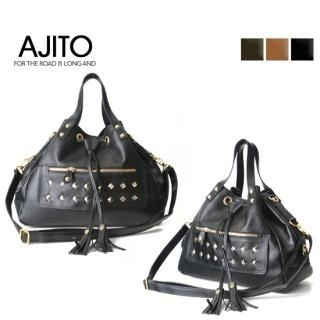 Buy AJITO Pyramid-Stud Bucket Bag 1021696568
