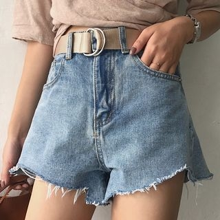Rib Denim Shorts 1061400291