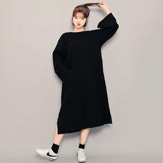 Cutout-Back A-Line Long Dress 1062399671