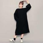 Cutout-Back A-Line Long Dress 1596