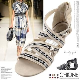 Buy Chione Zipper-Accent Sandals 1022970215