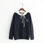 Embroidered Collared Sweater 1596