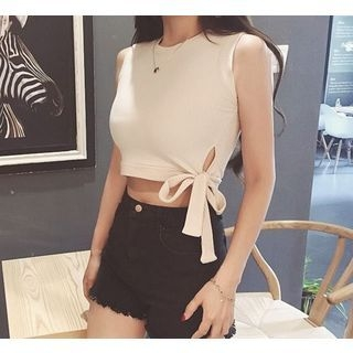 Cropped Knit Sleeveless Top 1052865450