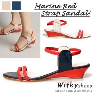 Buy Wifky Ankle Band Detail Wedge Sandals 1022923518