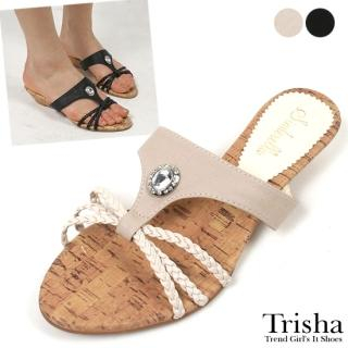 Buy Trisha Bejeweled Wedge Mules 1022464839