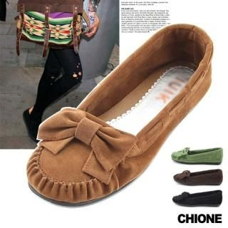 Picture of Chione Bow-Accent Faux-Suede Moccasins 1021468051 (Other Shoes, Chione Shoes, Korea Shoes, Womens Shoes, Other Womens Shoes)