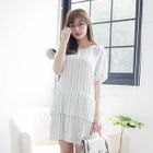 Short-Sleeve Striped Dress 1596