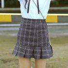 Check Pleated Hem Skirt 1596