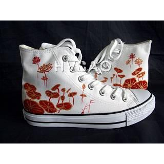 Buy HVBAO Red Lotus High-Top Sneakers 1011786712