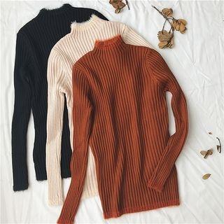 Ribbed Long-Sleeve Knit Top 1063740703