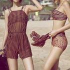 Set: Striped Bikini + Cover-up 1596