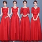 Sleeveless Bridesmaid Evening Gown 1596