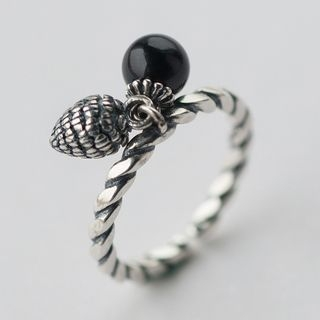Sterling Silver Ribbed Ring 1057920130