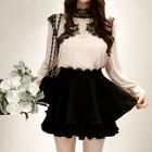 Lace-Trim Layered Mini Skort 1596