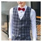 Plaid Dress Vest 1596