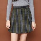 Plaid A-Line Mini Skirt 1596