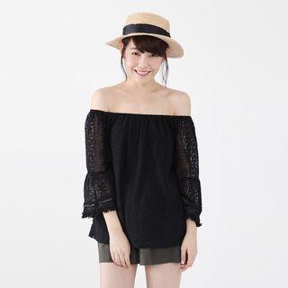 Off-Shoulder Lace Top 1053036351