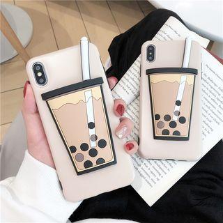 Image of 3D Pearl Milk Tea Mobile Case - iPhone 6 / 6 Plus / 6s / 6s Plus / 7 / 7 Plus / 8 / 8 Plus / X / XS / XS Max / XR
