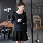 Sequin Long-Sleeve Dress 1596