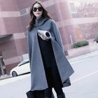 Slit-Front Hooded Cape 1596