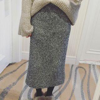 Rib Knit Midi Skirt 1063184135