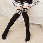 Striped Trim Stockings 1596