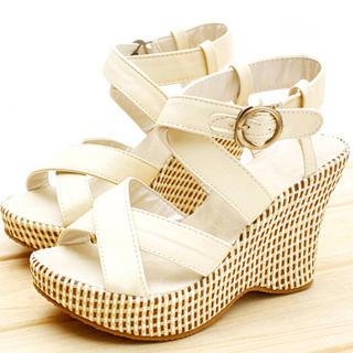 Buy KAWO Cross-Strap Wedge Sandals 1022761079