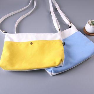 Two-Tone Canvas Crossbody Bag