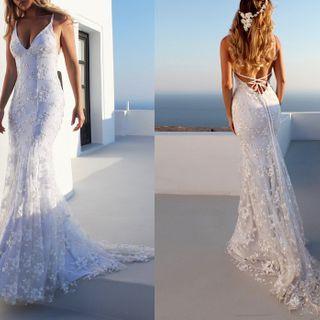 Spaghetti | Wedding | Strap | Dress | Lace