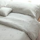 Set: Whale Print Pillow Case + Duvet Cover + Bed Sheet 1596