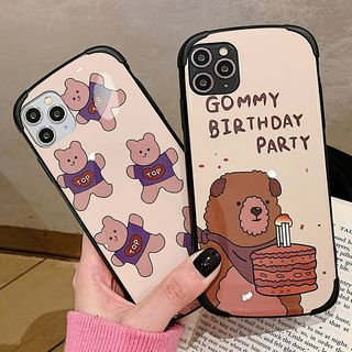 Image of Bear Printed Phone Case For iPhone 7 / 7 Plus / 8 / 8 Plus / X / XS / XR / XS Max / 11 / 11 Pro / 11 Pro Max