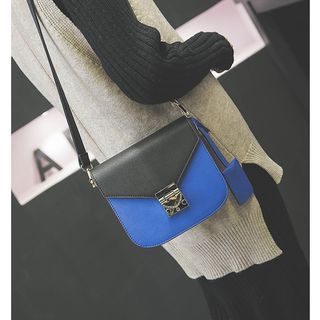 Two Tone Boxy Crossbody Bag