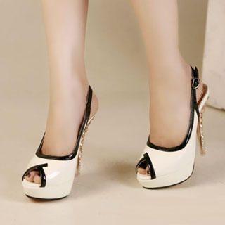 Buy Kvoll Contrast-Trim Platform Sandals 1022892510