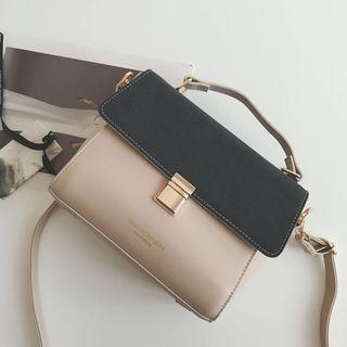 Two-Tone Crossbody Bag
