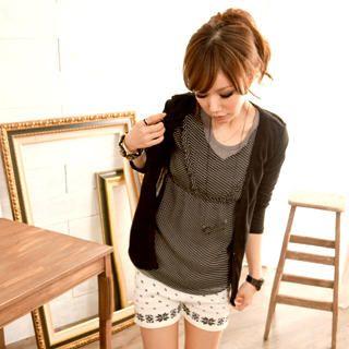 Buy I'Miusa Patterned Knit Shorts 1021785065