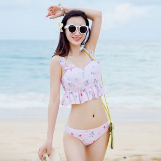 Set: Unicorn Print Bikini + Swimskirt 1049785117