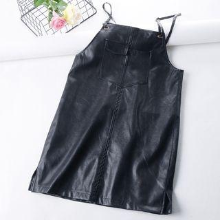 Spaghetti | Leather | Strap | Dress | Faux