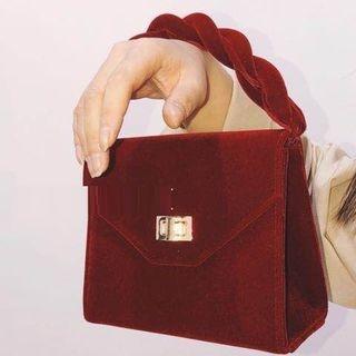 Velvet Handbag 1066459691
