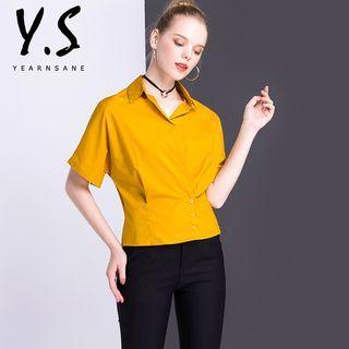 Short-Sleeve V-neck Blouse 1059847666
