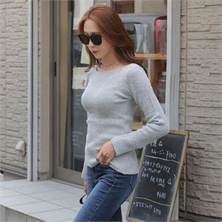 Boatneck Knit Top 1061845270