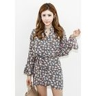 Dolman-Sleeve Tie-Waist Mini Dress 1596