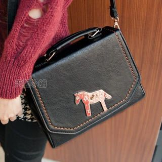 Horse-Accent Flap Cross Bag