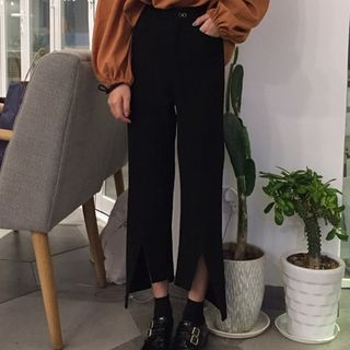 Slit Boot-cut Pants 1058169842