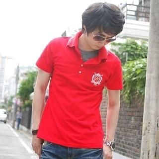 Buy ISNOM Embroidered Polo Shirt 1022883788