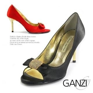 Buy ganzi Bow Front Peep Toe Stilettos 1021974463