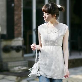 Buy Soegirl Lace Neckline Dotted Dress 1022596765