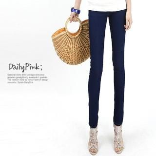 Buy Daily Pink Elasticized Waist Skinny Jeans 1022842971