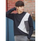 Round-Neck Color-Block T-Shirt 1596