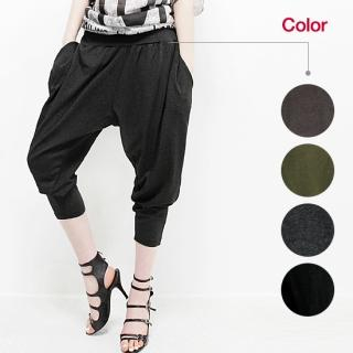 Picture of Beccgirl Cropped Baggy Pants 1022752175 (Womens Saruel Pants, Womens Cropped Pants, Beccgirl Pants, South Korea Pants)
